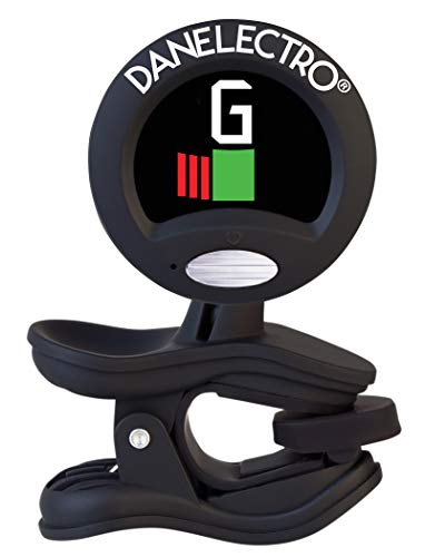 Danelectro Super Tight Clip On Tuner for All Instruments - Acoustic, Electronic or Bass Guitar, Mandolin, Banjo, Ukelele, and more!