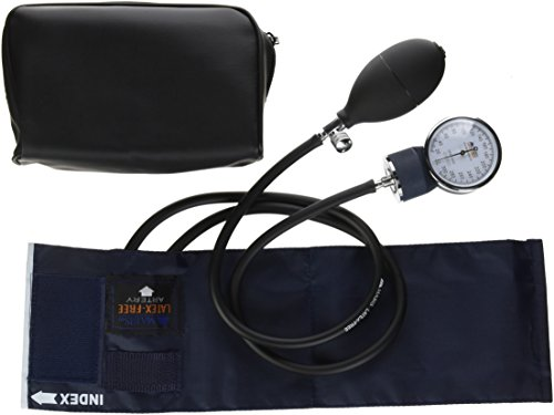 Sphygmomanometer Series Aneroid Precision (MABIS Precision Series Aneroid Sphygmomanometer Manual Blood Pressure Monitor with Calibrated Blue Nylon Cuff and Carrying Case, Child)