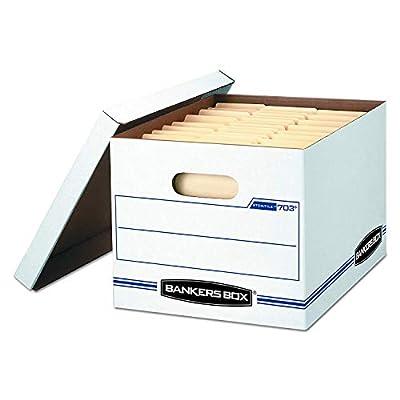 Bankers Box STOR/File Storage Boxes, Standard Set-Up, Lift-Off Lid, Letter/Legal (00703)