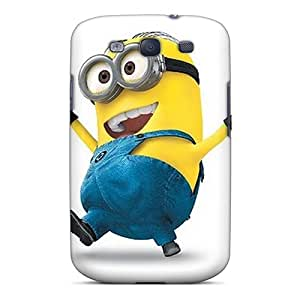 Shock-Absorbing Hard Phone Covers For Samsung Galaxy S3 With Allow Personal Design Lifelike Minion Pattern AnnaDubois