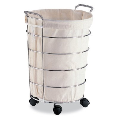 (Organize It All Rolling Laundry Basket With Detachable Canvas Bag)