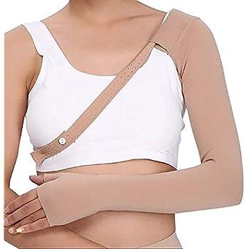 Enshey 30~40 mmHg Post Mastectomy Compression Sleeve Anti Swelling Glove Gauntlet Support Anti Edema Swelling Lymphedema (Right XL)