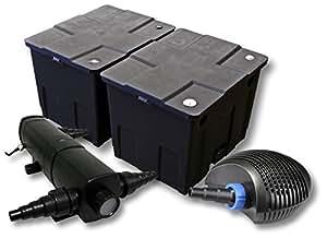 SUNSUN Juego de filtros para 60.000l Estanque con 36W depuradora y 40W ECO Bomba