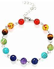 Gemstone Turquoise 7 Chakra Healing Beaded Bracelet 2444