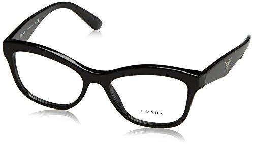 Prada PR29RV Eyeglass Frames 1AB1O1-54 - Black PR29RV-1AB1O1-54 (Glasses For Women Prada)