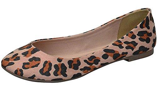 Breckelles Kvinna Spetsig Tå Halka På Balett Lägenheter Leopard