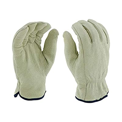 West Chester 994KP XL Select Grain Pigskin Leather Driver Gloves with Positherm Lining, XL, White (Pack of 12)