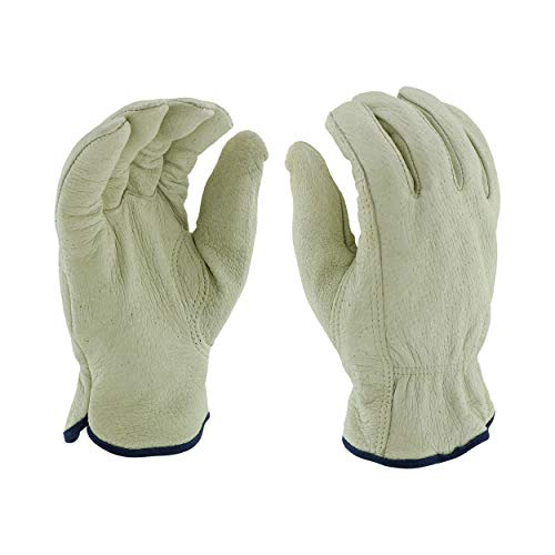 - West Chester 994KP XL Select Grain Pigskin Leather Driver Gloves with Positherm Lining, XL, White (Pack of 12)