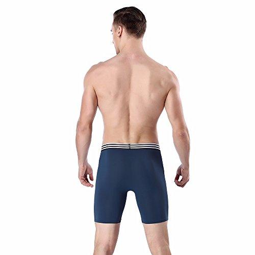 Doux Brief Culotte Boxers Caleçons Sports Underpants Bleu Hooudo Hommes Sous Long vêtements Coton Stretch tSCwCXqW
