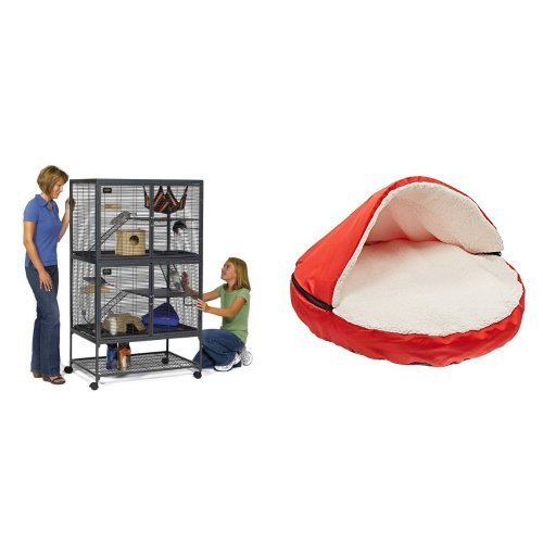 midwest-critter-nation-animal-habitat-with-stand-double-unit-36-inches-by-24-inches-by-63-inches-and