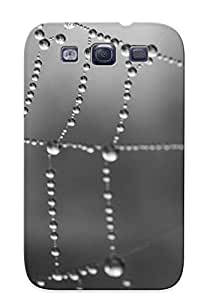 WqEaXAd1785UDuVt Wet Spiderweb Protective Case Cover Skin/galaxy S3 Case Cover Appearance