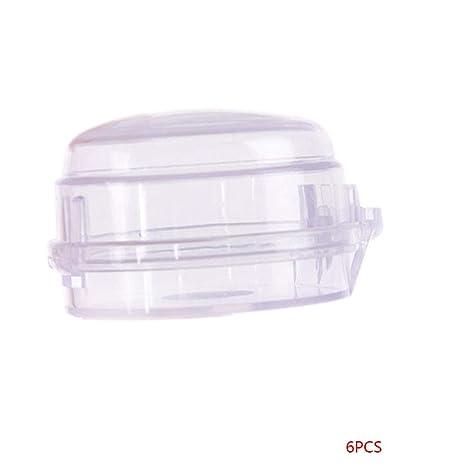 DIAMOEN 6 Piezas de Gas Universal Interruptor de Control de la Estufa botón de Seguridad Cubiertas
