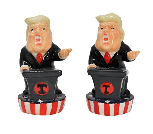 - Home-X - Donald Trump Salt and Pepper Set, Fun Novelty Salt and Pepper Shakers add Spice to Any Meal