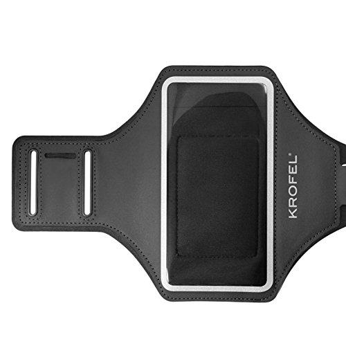 (Krofel Running Sports/Fitness Armband Case for LG G2, G3, G4, G5, Aristo 2, Harmony, K20 V, K30, K8V, Phoenix 3, Phoenix Plus, Tribute Dynasty, Tribute HD, X Power, X Venture, Zone 4 - (Gray))
