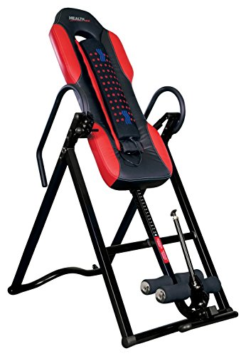 Health Gear ITM5500 Advanced Technology Inversion Table with Vibro Massage & Heat - Heavy Duty up to...