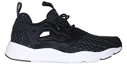 Reebok Furylite Woven Sneaker Black 5 (Black / Dark Grey Heather / Solid Grey / White, 8.5 B(M) US)
