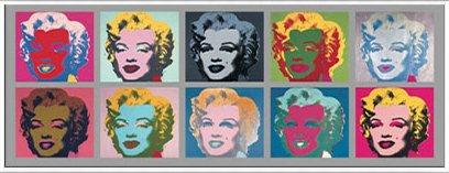 ポスター アンディ ウォーホル Ten Marilyns 1967 額装品 アルミ製ベーシックフレーム(ホワイト) B072MT2DC8 ホワイト ホワイト