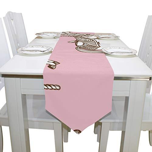 Menedo Table Cover Kawaii Carousel Playground Enjoy Non-Slip