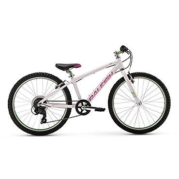 Raleigh Lily 24 Girl's Mountain Bike, White