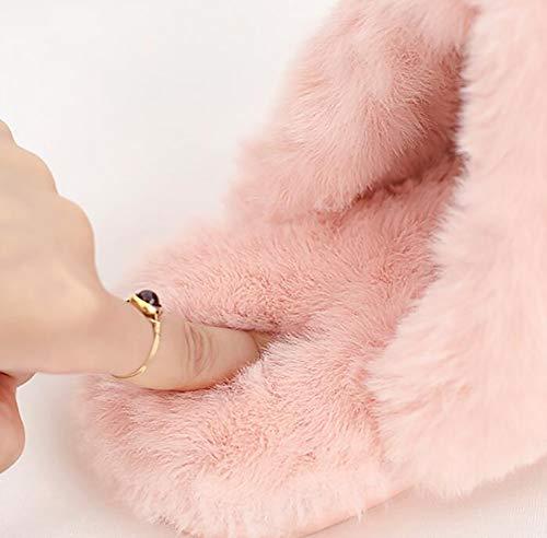 black 36 Hiver Flops Maison Mouillé Chaud Flip Intérieure Chaussures Supérieur 35 Coton Chaussons Pu Amateurs Femmes Pink Pas De Shangxian qxaX6Uzdqw