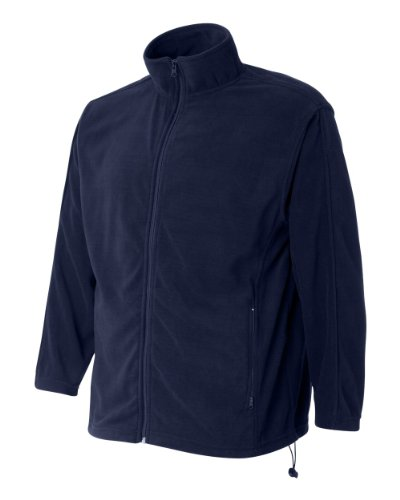 FeatherLite Men's 3301 Microfleece Full-Zip Jacket Zip-Up Pullover Sweatshirt (Medium, Nantucket Navy)