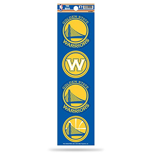 - Rico Industries NBA Golden State Warriors Die Cut 4-Piece The Quad Sticker Sheet