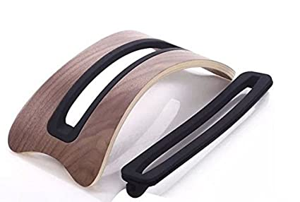 Xtenzi Arc Shaped Birch Vertical Wood stand Desk Display Holder for Apple Macbook Pro/Macbook air 15 13 11 (WALNUT) xt3107