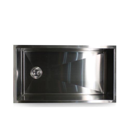 32 Inch Undermount Kitchen Sink: Nantucket Sinks ZR3218 32-Inch Pro Series Single Bowl
