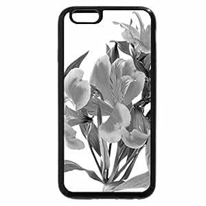 iPhone 6S Plus Case, iPhone 6 Plus Case (Black & White) - Orange day lillies