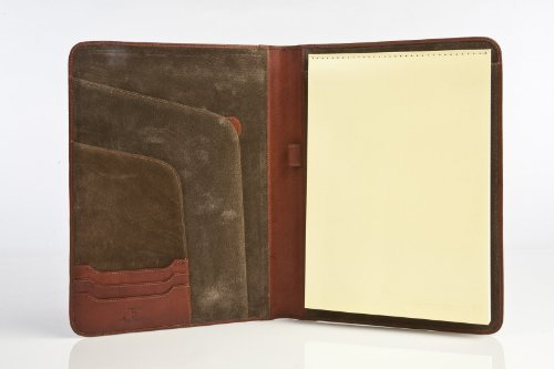 Tony Perotti Unisex Italian Cow Leather 8.5x11 Notepad Business Writing Padfolio in Brown by Tony Perotti by Tony Perotti
