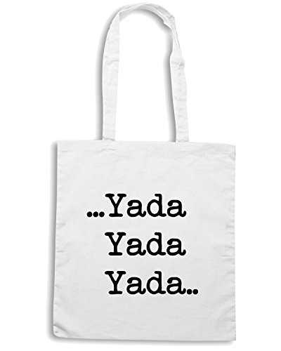 T-Shirtshock - Bolsa para la compra OLDENG00299 yada yada yada Blanco