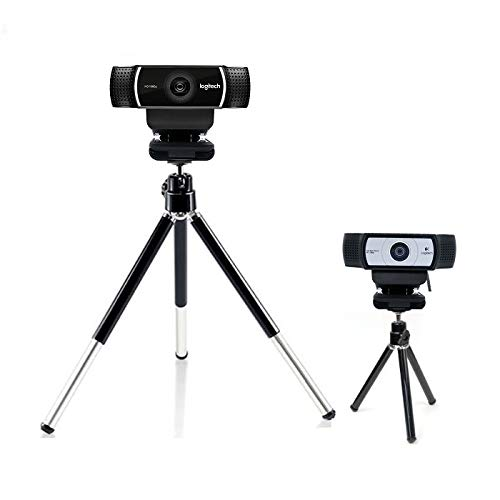 Extendable Camera Tripod Mount Holder Stand Cradle for Logitech Webcam C922 C930e C930 C920 C615-black Bulk4buy