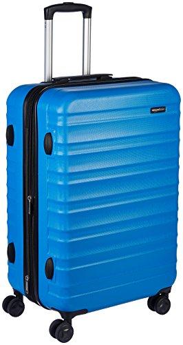 """AmazonBasics Hardside Luggage Spinner - 24"""", Light Blue"""