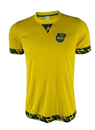 Rass Sport Copa America Centenario Soccer Jersey - JAMAICA - MDYG0372-YEL-L/XL