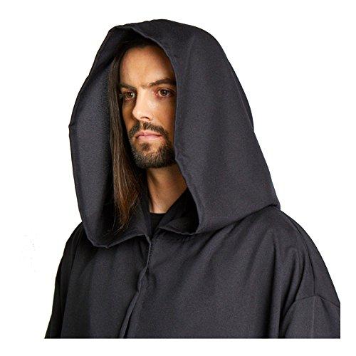 (Largemouth Men's Jedi Sith Robe Cloak Costume Brown Black (Small/Teen)