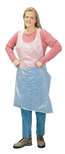 Liberty 2846 Polyethylene Disposable Embossed Apron, Bulk Packed, 28'' Width x 46'' Length (Case of 1000)