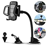 Car Phone Mount, Vansky 3-in-1 Universal Cell Phone Holder Car Air Vent Holder Dashboard Mount Windshield Mount for iPhone Xs Max R X 8 Plus 7 Plus 6S Samsung Galaxy S9 S8 Edge S7 S6 LG Sony and More: more info