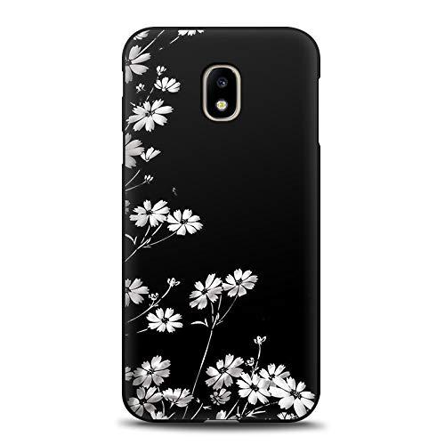 Aksuo For Samsung Galaxy J3 2017 Negro Funda , TPU Anti-Rasguño Anti-Golpes Cover Protectora Negro Caso Slim Silicona Case - Gatito del corazón de la Palma