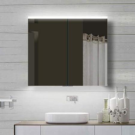 Specchio Bagno 80 X 70.Lux Aqua Ydc80 70 Specchio Da Bagno Con Cornice In Alluminio 80