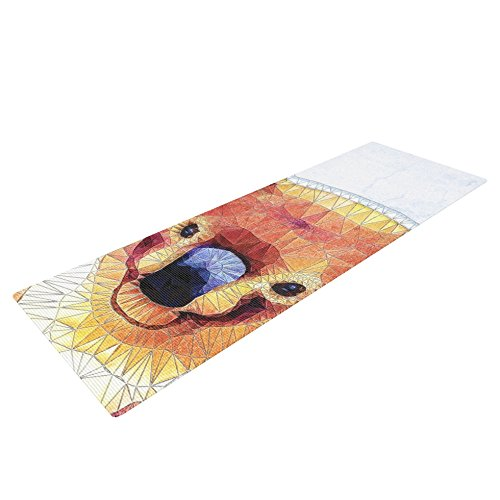 Kess InHouse Ancello Cute Koala Yoga Exercise Mat Orange//Pink 72 x 24-Inch KESS Global Inc AE1011AYM01