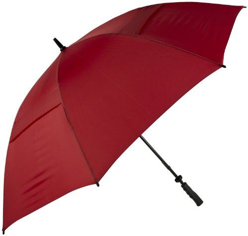 Haas-Jordan by Westcott Hurricane 345 Tour Plus Golf Umbrella Crimson 62-Inch