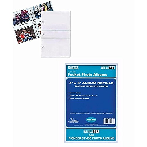 Amazoncom Pioneer Str 3 Ring Memo Album 40 Pocket Refills 2 Per
