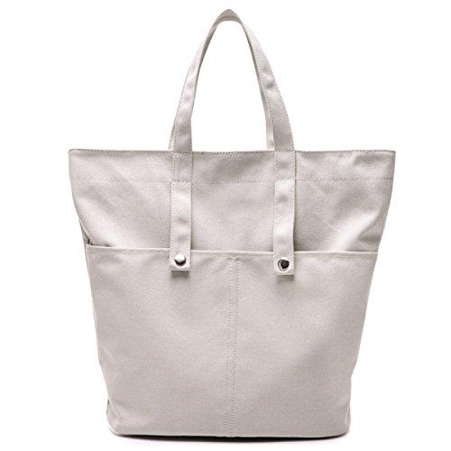 Frauen Jahrgang Leinwand Schulter Aktentasche Messenger Handtasche Einkaufen Outdoor Tasche ,White-OneSize