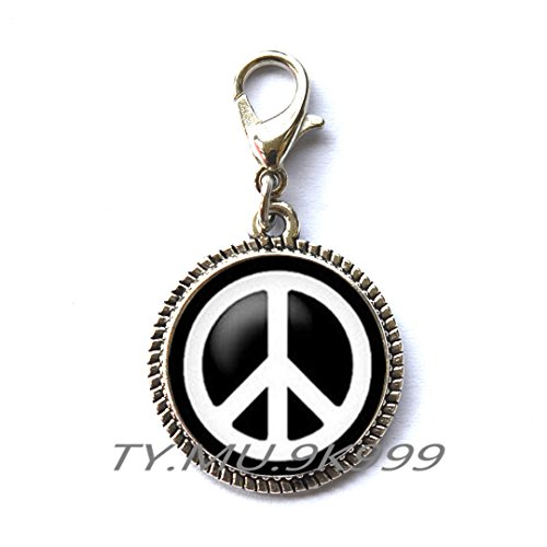 Yao0dianxku Peace Sign Zipper Pull Peace Zipper Pull Peace Sign Jewelry Peace Jewelry Chain Zipper Pull Peace Gift.Y078 (2)