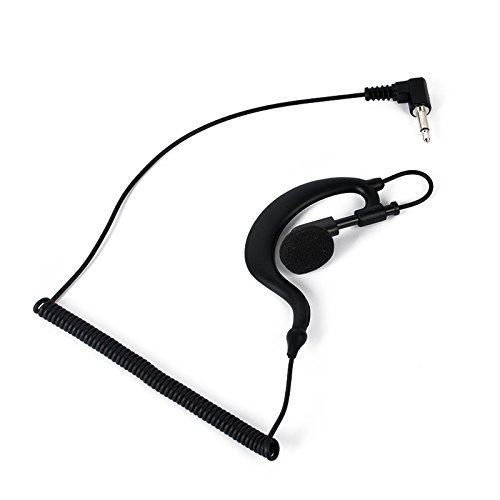 HYS G Shape Soft Ear Hook Earpiece Headset 3.5mm Plug Ear Hook Listen Only Ham Radio Earpiece/headset TC-617 Receiver/Listen Only Earpiece for 2-way Motorola Icom Radio ()