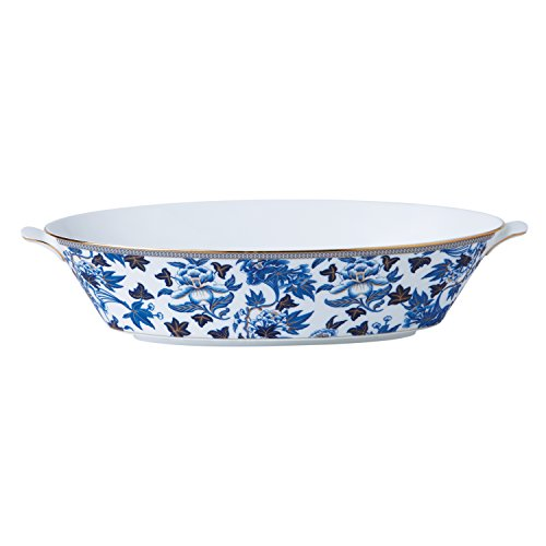 Wedgwood 40003901 Hibiscus Oval Serving Bowl (Serving Oval Floral Bowl)