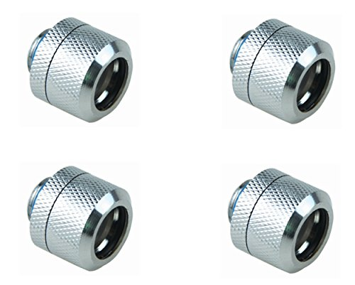 Water Cooling Fittings (BXQINLENX Silver Chrome G1/4