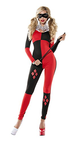 Classic Harley Quinn Catsuit Womens Costume deluxe - X-Small