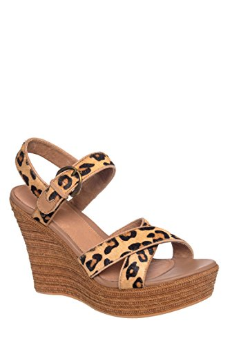 UGG Australia Womens Jazmine Calf Hair Leopard Chestnut Leopard Wedge - 9
