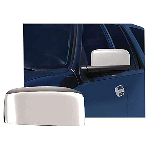 Brighter Design Top Mirror Covers for 2003-2006 Lincoln Navigator [Chrome] Premium FX